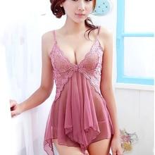Meihuida Women Sexy Lingerie Lace Dress Pink Underwear Sleep