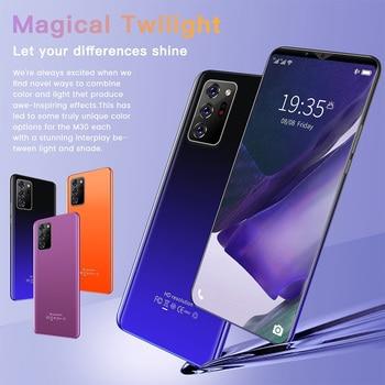 Note30 Plus Smartphone 6.1 Inch Dual SIM Smart Phone 4G Facial Unlocking 13MP+24MP Mobile Phone US Plug EU Plug 6