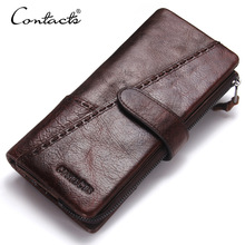 Genuine Leather Long Wallet Men Coin Purse Male Clutch Credit Card Holder Coin Purse Walet Money Bag Phone Purse цена