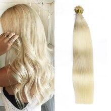 Toysww Remy u Tip Human Hair Extention 100% Keratin Pre Bonded Double Drawn Nail Tip Hair 1g per strand