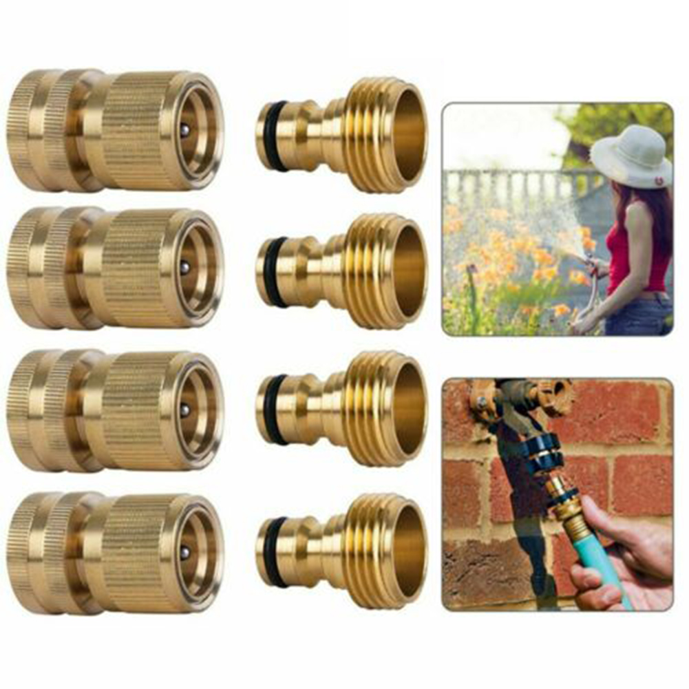 Garden Hose Quick Connect Brass Quick Connector Fitting 3/4 Inch Accessories @LS