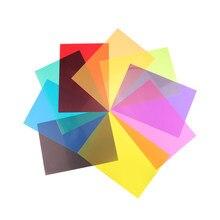 9 pcstransparent cor correção iluminação gel filtro colorido gel filtro de luz plástico foto flash cor filtro 9 sortidas cor