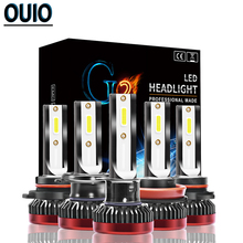 8000LM/pair Car LED Headlight G2 Mini Bulbs H1 H7 H11 Led Bulb 9005/HB3 9006/HB4 COB Waterproof Lamp 76W 12V Fog Light for Auto