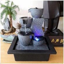 תצוגת מים זורמים מים מזרקת מקורה אוויר אדים שולחן עבודה מזרקת גן מיקרו נוף בית משרד פנג שואי קישוט