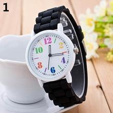 Kids Girls' Fashion Silicone Strap Arabic Number Children Sport Casual Quartz Wrist Watch kids watches reloj relo Wrist Watch ne metallic strap number quartz rhinestoned watch
