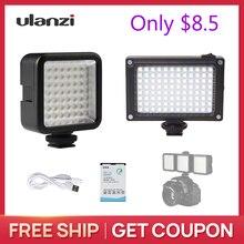 Ulanzi 49 LED וידאו פלאש אור/96 LED וידאו אור למצלמה Canon ניקון iPhone X מיני אור עבור חלק Q2 אוסמו כיס Gimbal