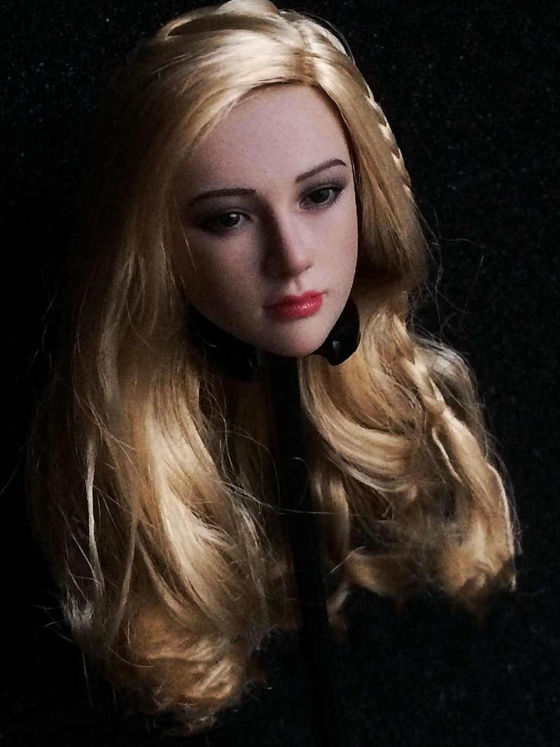 """1//6 TBLeague tariah Silver Valkyrie blonde Head Sculpt sculpté pour 12/"""" PH corps"""
