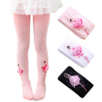 Dancing Ballet Tights for Girls Highly Elastic Soft Cotton Comfort Children Pantyhose Cute Princess Bowknot Baby Girl Stockings - discount item  25% OFF Children's Clothing