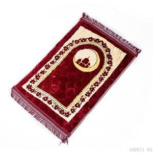 Image 4 - มุสลิม 80*120 CM Chenille Thicken ผ้าห่ม Salat Musallah พรม Tapis พรมอิสลาม Namaz Non  ลื่นสวดมนต์เสื่อ