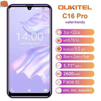 Перейти на Алиэкспресс и купить OUKITEL C16 Pro 5,71 ''мобильный телефон Android 9,0 MT6761P, 3 Гб оперативной памяти, 32 Гб встроенной памяти, смартфон с функцией отпечатков пальцев (Fingerprint ID л...