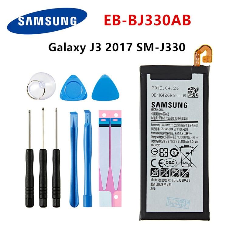 SAMSUNG Orginal EB-BJ330ABE 2400mAh Battery For Samsung Galaxy J3 2017 SM-J330 J3300 SM-J3300 SM-J330F J330FN J330G J330L +Tools