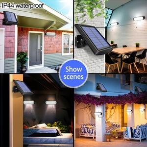 Image 5 - Najnowszy 20 led lampa słoneczna oddzielny Panel słoneczny i światło z linią wodoodporne oświetlenie Pull Switch dostępne na zewnątrz lub wewnątrz