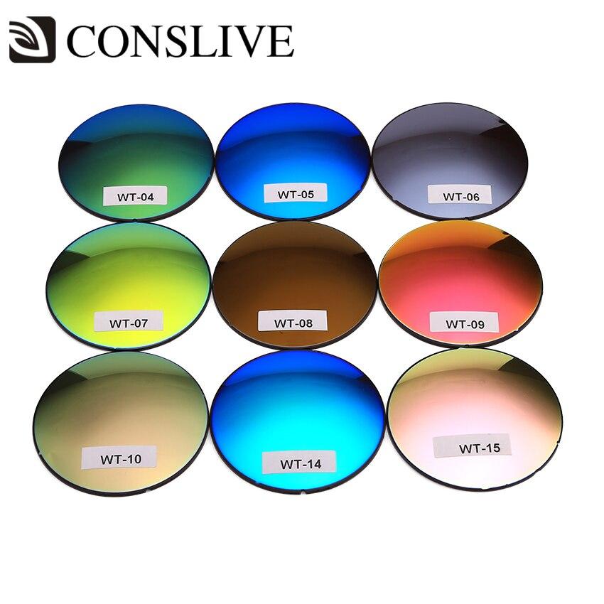 Lentille de lunettes de soleil myope couleur (Sph 0 ~-8.00 Cyl 0 ~-2.00) verres de Prescription polarisés en verre d'astigmatisme avec dioptries 1 paire