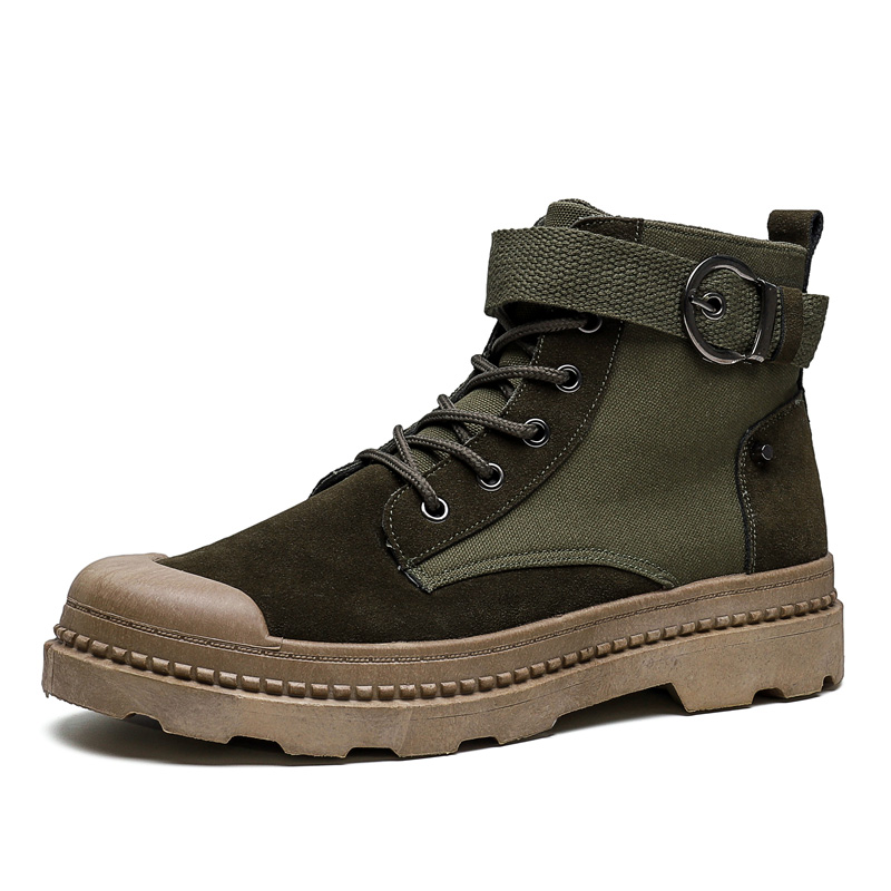 Men 39 s Sneakers 2019 Autumn And Winter Matte Leather High Top Men 39 s Shoes Large Size Size 44 Retro Casual Men 39 s Boots CS1111 in Basic Boots from Shoes
