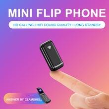 Ulcool F1 Mini Flip Mobile phone 1.08″ Single Sim Smallest Wireless Bluetooth Dialer Handsfree Earphone GSM Cell Phone