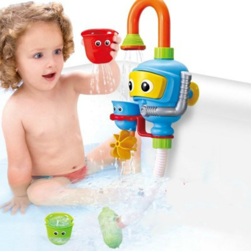 Baby Bath Toys Bathtub Accessories Waterwheel Shower Spray Water Play Game For Bath Bathroom Diver Babies Toy Kids Beach Toys