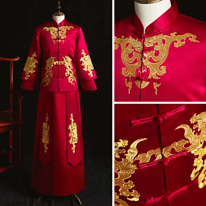 2020 Smoking Masculino Mao Suit Men's Wear Chinese Style Malay Suit Bridegroom Wedding Dress Toast Tang Xiuhe Spring And Autumn
