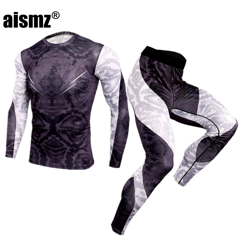 Aismz New Winter Men Thermal Underwear Sets Elastic Warm Fleece Long Johns For Mens Leggings Breathable Thermo Underwear Suits