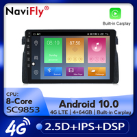 NaviFly Car Radio Multimedia video player GPS No 2 din Android 10.0 4GB+64GB For BMW E46 M3 Rover 75 Coupe 318/320/325/330/335