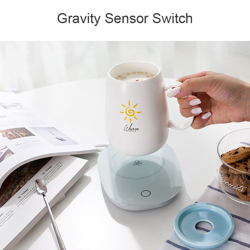 Новая умная кофейная кружка, подогреватель чашек, Гравитационный переключатель для офиса, домашнего использования, постоянная температура...