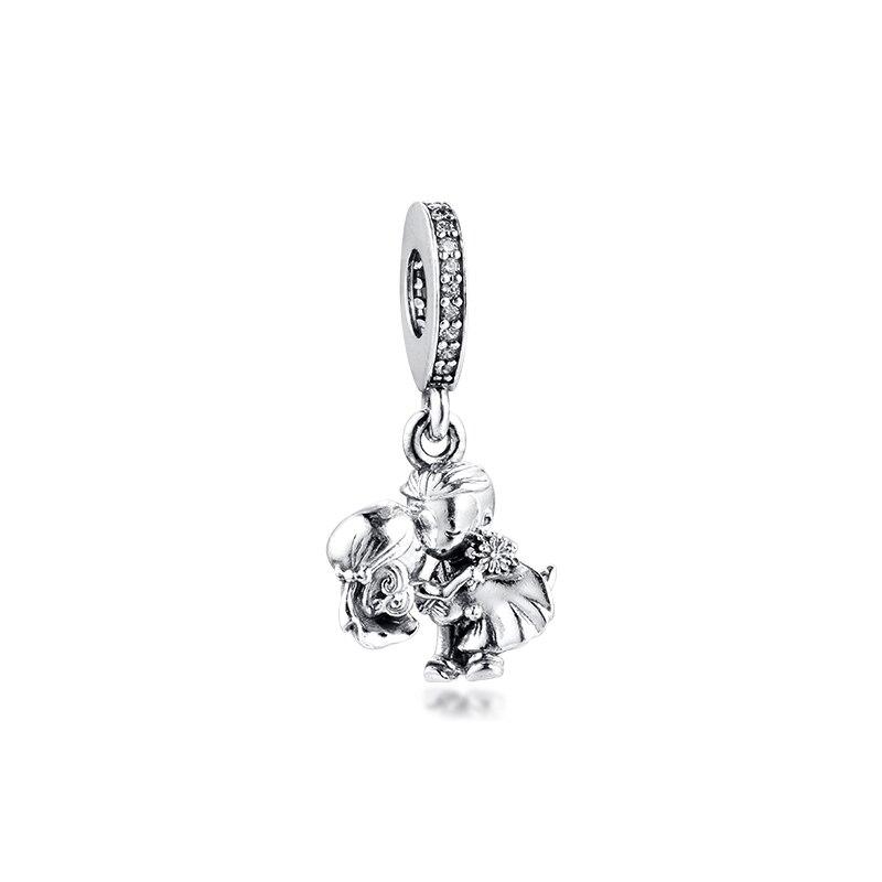 Married Couple Dangle Charm Fits Orignal Bracelets Woman DIY Beads For Jewelry Making Silver Kralen Voor Sieraden Maken
