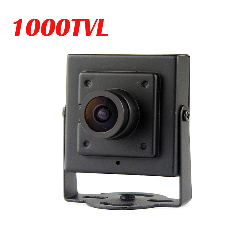 1000TVL CMOS Wired Mini Box Micro CVBS CCTV Security Camera With Metal Body 3.6MM Lens