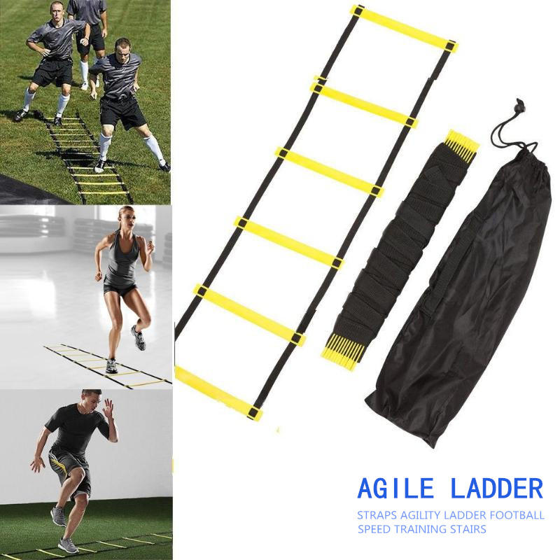 Agility Training Ladders Speed Ladder Nylon Straps Stairs Agile Staircase for Fitness Soccer Football Speed Ladder Equipment