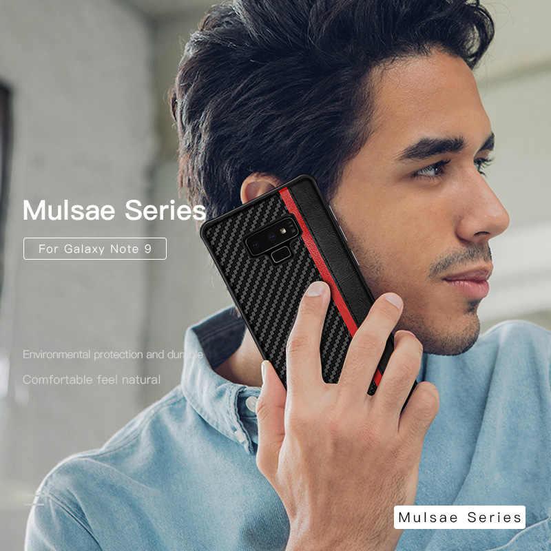 الفاخرة ألياف الكربون أغطية جلد لسامسونج غالاكسي S8 S9 S10 زائد نوت 8 9 10 برو Coque S 10 E حقيبة هاتف محمول الوفير الغلاف
