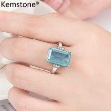 Kemstone роскошный медный синий горный хрусталь ювелирные изделия подарок для женщин