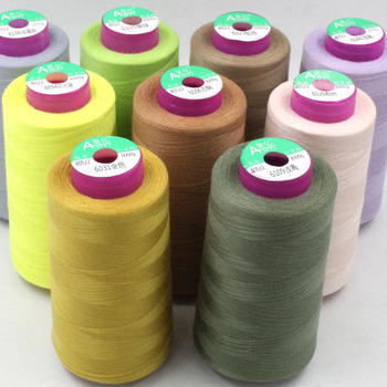 40S/2 polyester sewing thread 3000m garment sewing machine cotton thread several colors thin threads 0.15mm for household work image