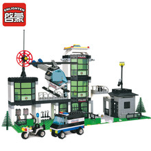 Enlighten Building Blocks Hot Toy for Boy Headquaters Police Series Construction Sets Model Building Kits Christmas Gift building blocks police control center lego toy city series building police toy blocks lego free building for christmas