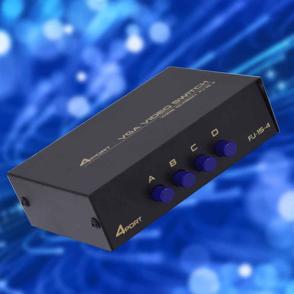 4 Ports Hub Sharing VGA Plug And Play Metal Splitter Box Displayport USB 2.0 TV Projector For Computer Selector HDMI KVM Switch
