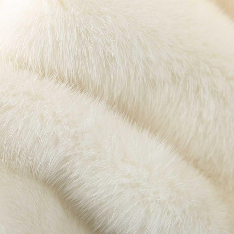 2019 inverno nova todo vision casaco de pele das mulheres curto moda terno gola simples água locomotiva casaco de pele de vision