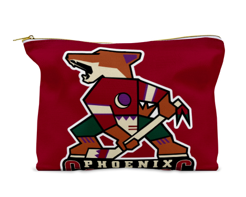 Phoenix Coyotes Cosmetic Bag Travel Size Toiletries Zipper Pouch Small Makeup Bag Cute Travel Bag For Women