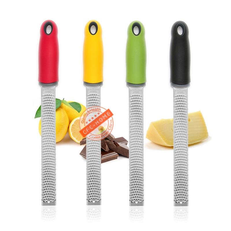 Citrus Lemon Zester & Parutan Keju-Keju Parmesan, Lemon, Jahe, Bawang Putih, Pala, Coklat sayuran, Buah-buahan, Alat Dapur title=