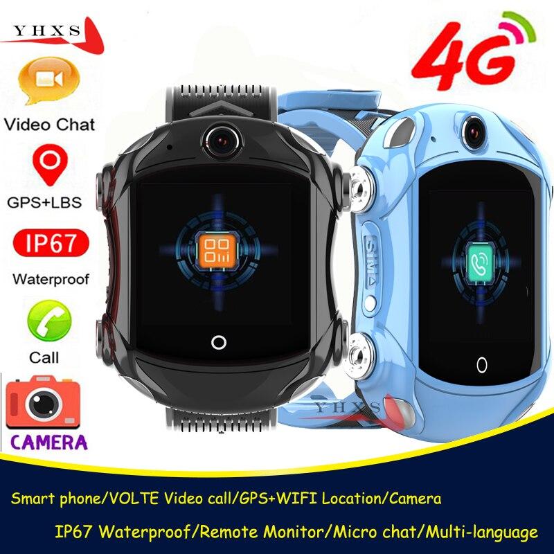 IP67 Waterproof Smart 4G Remote Camera GPS WI-FI Kid Student Sports Car Wristwatch Video Call Monitor Trace Location Phone Watch
