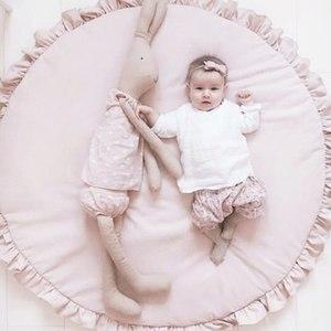 Мультяшные животные детские игровые коврики коврик для малышей Дети ползание одеяло круглый ковер коврик игрушки коврик для детской комна...