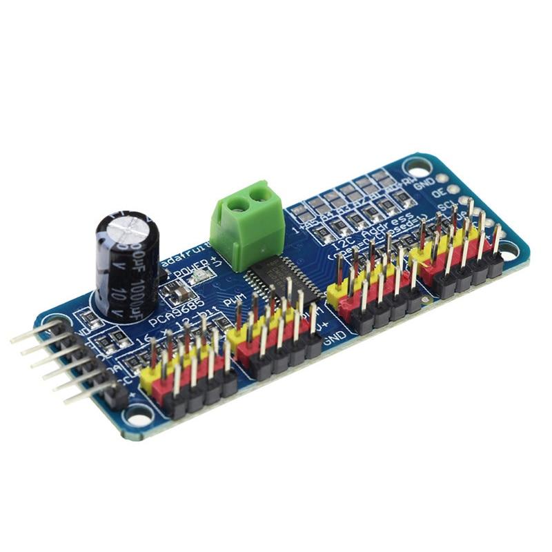 PCA9685 16-channel PWM Servo Drive Board Robot Controller IIC Interface Driver Module
