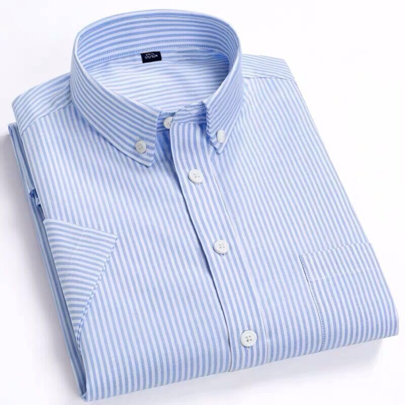 Reine Baumwolle Herren Shirts Kurzarm Oxford Solide Einfache Komfortable Mode Shirt Herren Kleid Shirts Sommer Slim Fit Shirt Männer