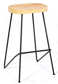 Nordic Iron Bar Chair Creative   Solid Wood High Stool Simple
