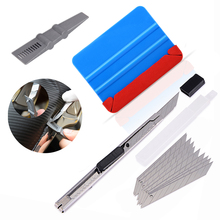 FOSHIO Carbon Fiber Car Accessories Vinyl Wrap Fabric Felt Squeegee Scraper Sticker Film Cutting Knife Window Tint Kit