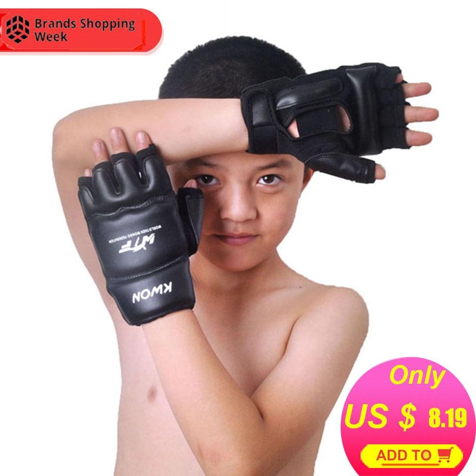 Protector Boxing-Gloves Karate-Sandbag Taekwondo Muay-Thai Kids Half-Finger Children