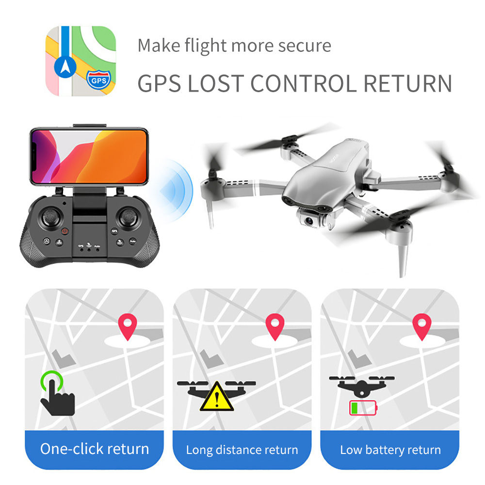 SHAREFUNBAY F3 drone gps 4K 5G WiFi live video FPV quadrotor flight 25 minutes rc distance 500m drone HD wide-angle dual camera