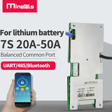 7S bms ternary li-ion common port with balanced 18650 bluetooth pack BMS protection board UART/485 communication smart 24V BMS