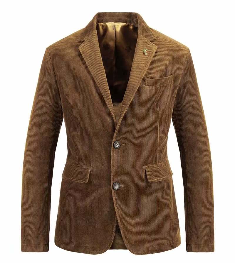 ICPANS Corduroy Men's Casual Blazer Brand Fashion Male  Fit Slim Jacket Coat Men Blazer Terno Masculino Vetement Homme