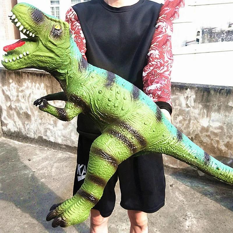 Large Size Dinosaur Figures Soft Spinosaurus Stegosaurus Tyrannosaurus Birthday Gifts for Boy Toy