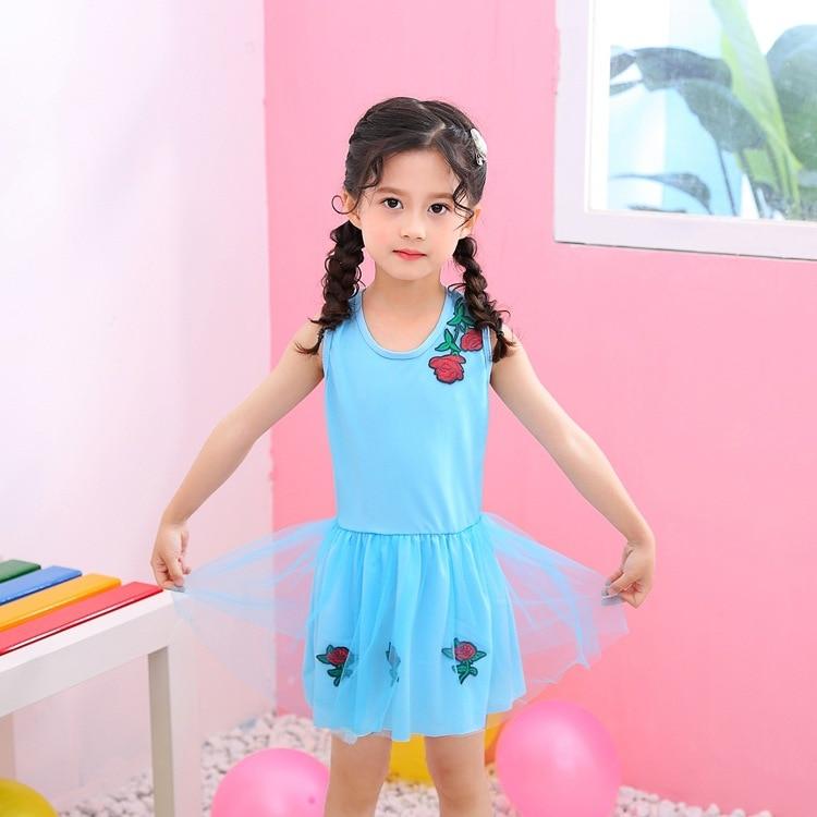 KID'S Swimwear GIRL'S Princess Dress-Siamese Swimsuit Girls Baby 3-6-Year-Old Children Cute Swimwear