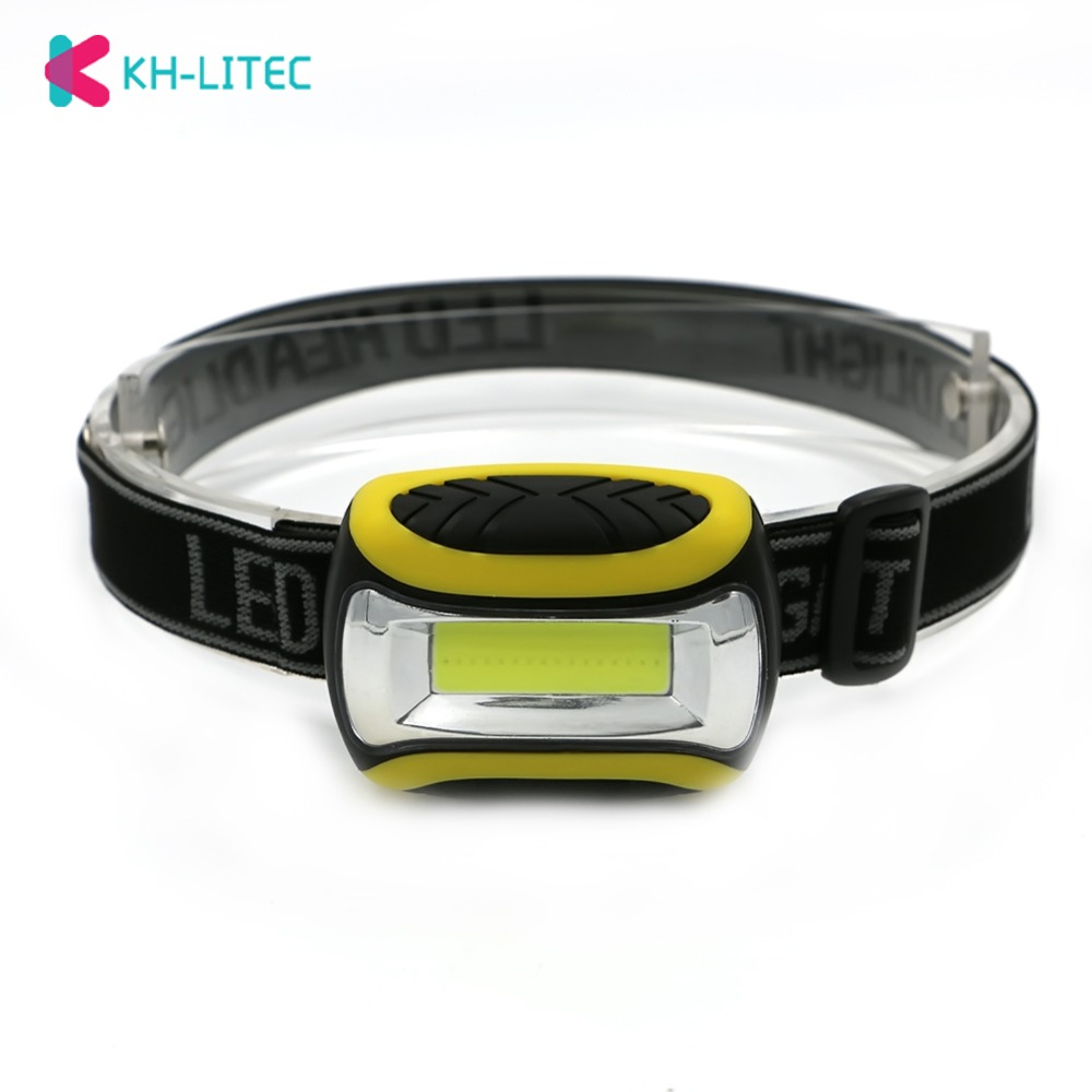 KHLITEC Mini COB LED Headlamp 4 Modes Waterproof Headlight Head Flashlight Head Torch Lanterna For Outdoor Camping Night Ride