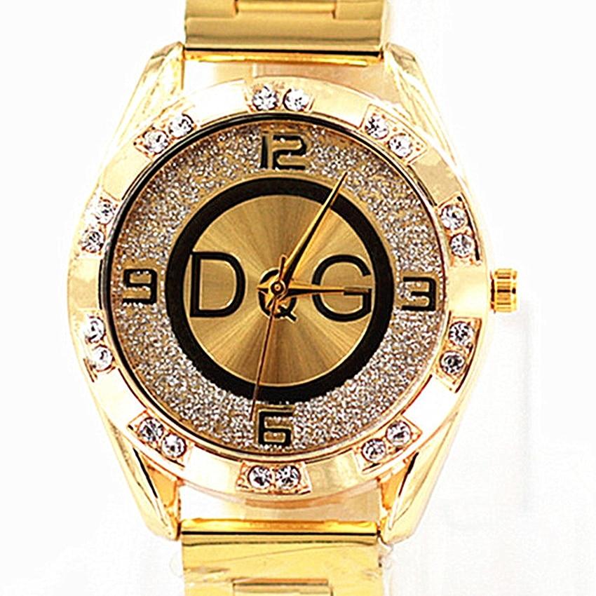 2020 Zegarek Damski New DQG Fashion Luxury Watch Crystal Quartz Female Watch Gold Silver Stainless Steel Ladies Dress Watch