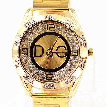 2020 Zegarek Damski new DQG fashion luxury watch crystal quartz female watch gold silver stainless steel ladies dress watch цена 2017